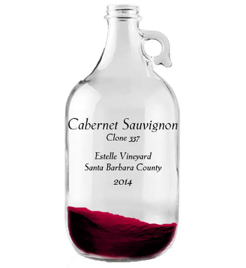 Growler 1.9L 2014 Cabernet Sauvignon Clone 337 Estelle Vineyard