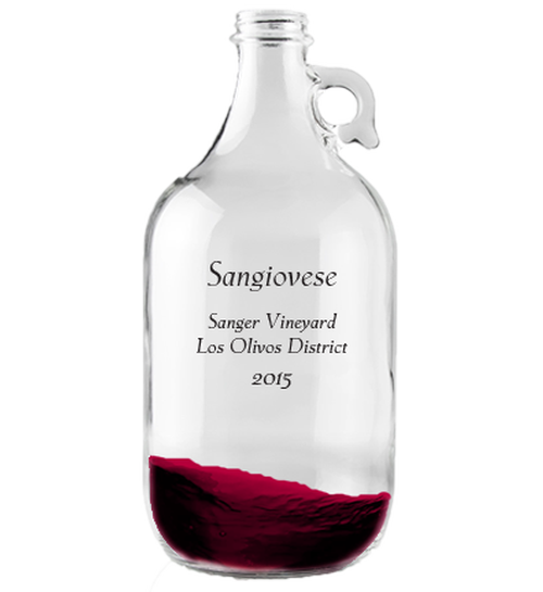Growler 1.9L 2015 Sangiovese Estelle Vineyard