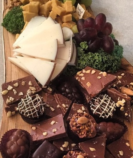 Dessert Plate Cheese and Chocolate